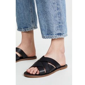 Madewell The Boardwalk Woven Slide Sandal